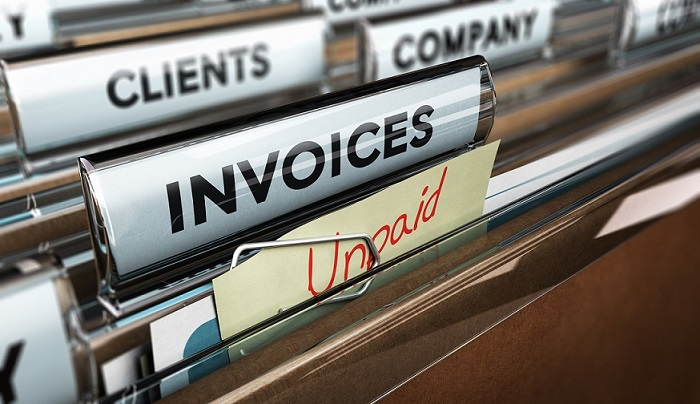 Unpaid invoices, Financial Concept