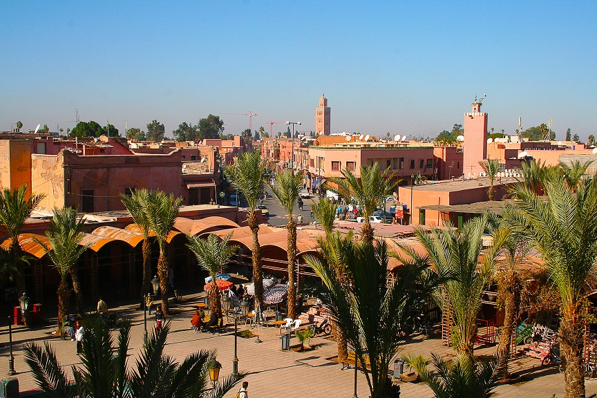 Marrakesh's Medina quarter in Morocco, Northern Africa.