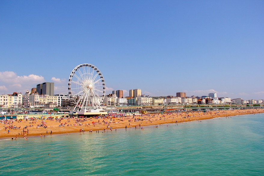 Panoramic view of Brighton Beach